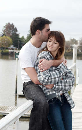 valentine married: Loving young couple, beautiful and happy Stock Photo
