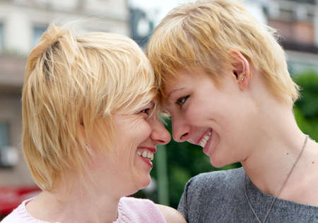 A young happy girl with mother Stock Photo - 5464492