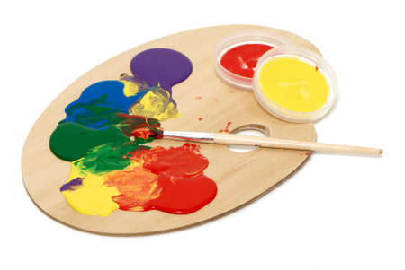 Artists palette with multiple colors