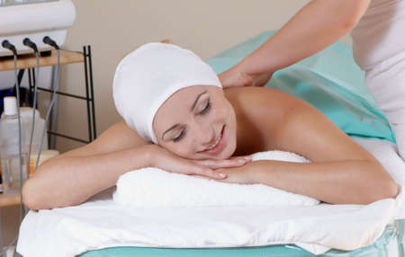 lovely lady in massage salon Stock Photo - 5482272