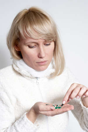 The woman with pills Stock Photo - 5482212