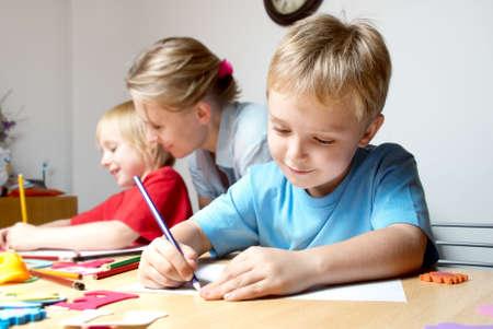 Rysunek lekcji w szkole podstawowej