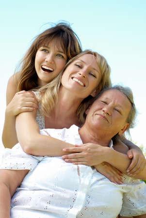 three generation family Stock Photo - 5482275