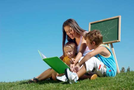 Literature lesson on fresh air photo