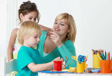 Employment in a kindergarten photo