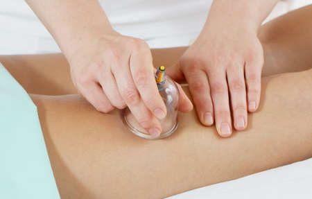 Massage for feet. In massage salon Stock Photo