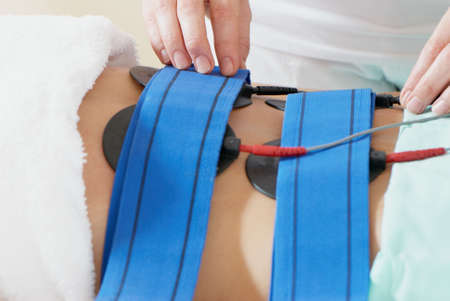 Masaż dla JAMA brzucha. W salonie masaż Zdjęcie Seryjne