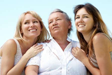 trzema rodziny Zdjęcie Seryjne