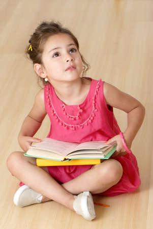 preschooler with book photo