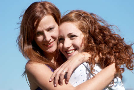 A young happy girl with mother Stock Photo - 5495733