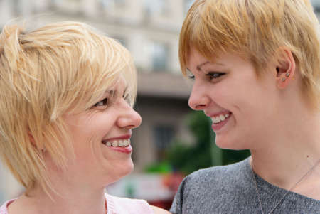 A young happy girl with mother Stock Photo - 5509984
