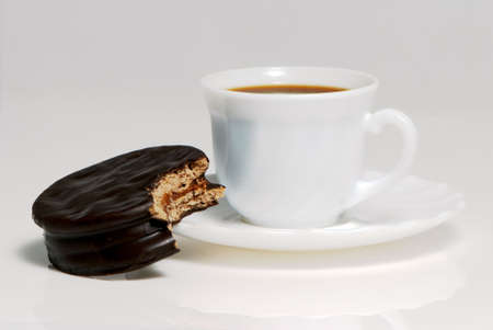Argentina alfajor with a coffee cup Stock Photo - 5519883