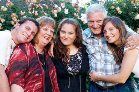 Portrait of the happy family photo