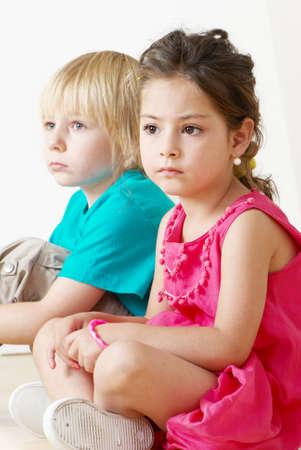 Niños en un jardín de infantes. Retrato  Foto de archivo - 7953183