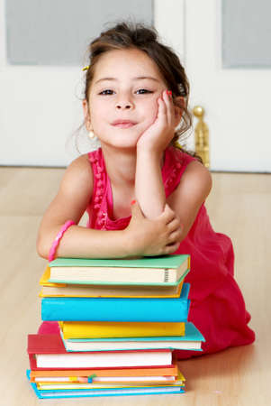 preschooler with book