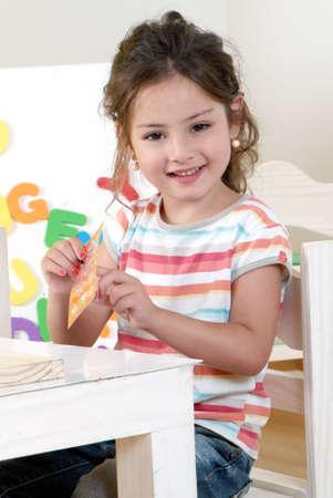 Mała dziewczynka z mody Zdjęcie Seryjne