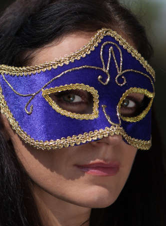 Portrait beautiful woman in carnival mask Stock Photo - 7953217