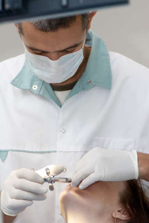 Dentist making anesthetic injection Stock Photo - 8142967