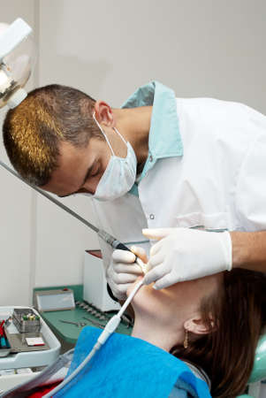 Medical treatment at the dentist office Stock Photo - 8143026