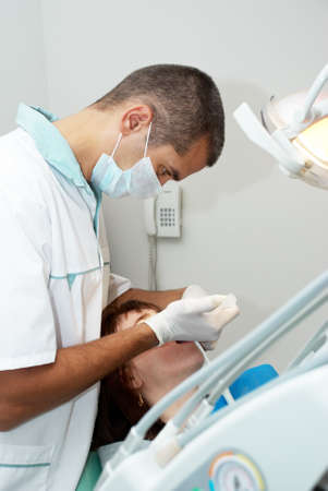 Medical treatment at the dentist office  Stock Photo - 8142954