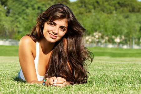 openly: The beautiful Argentinian girl   Stock Photo