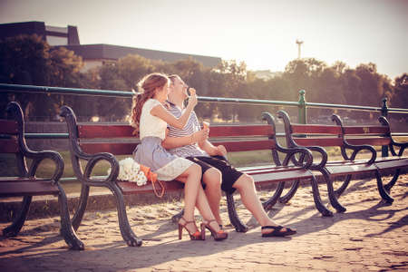 two stroke: Love and affection between a young couple