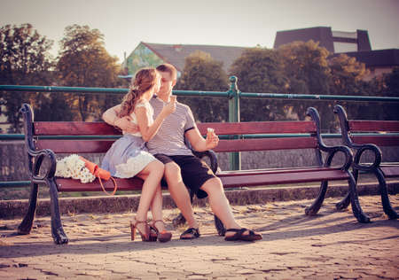 affection: Love and affection between a young couple