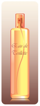 toilette: bottle of eau de toilette Illustration