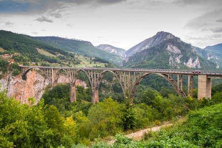 モンテネグロ、Dzhurdzhevich ブリッジ 写真素材