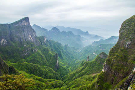 China, Hunan, Mount Tianmen Shan Stock Photo