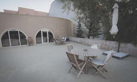 Open Air Cafe Stock Photo