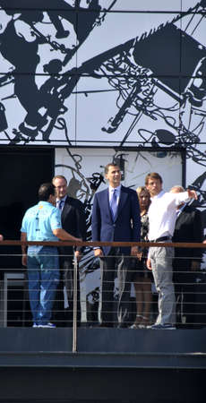 Volvo Ocean Race. D. Felipe de Borbon princess of Spain, presence in organizators Volvo Ocean Race inauguration oficial day of Volvo Village Area.