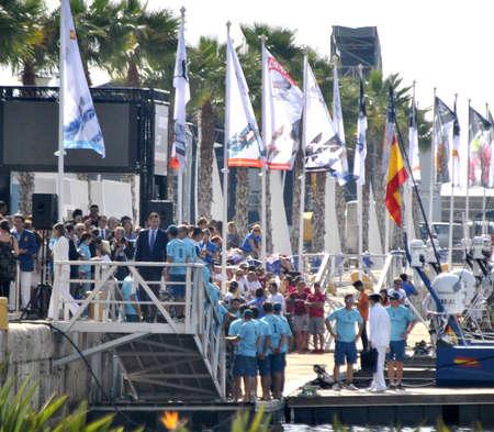 Volvo Village Area Alicante. Inaguration day with presence of royal princess D. Felipe de Borbon. Volvo Ocean Race. Alicante October 2.011