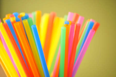 freezing ice cream straws or soda Stock Photo