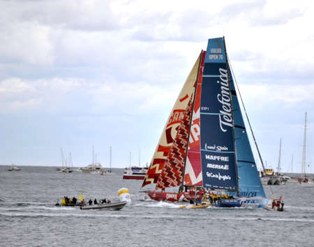 Volvo Ocean Race, oficial starting day Alicante Bay Port. Alicante, Spain. October 2.011