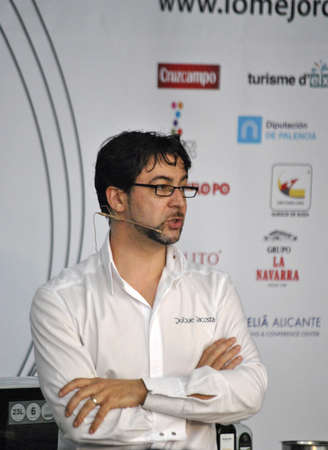 Quique Dacosta public figure, Michelin Chef, LMG Best Culinary Congress, Chef in culinary demostration, at IFA Congress Palace, Alicante 2.011