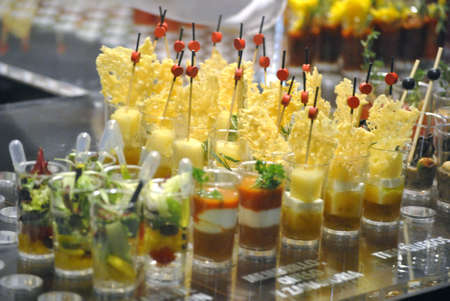 tapas in little bottle serving, LMG Culinary Congress, Alicante, Spain 2.011