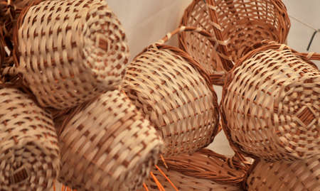 fiber handmade traditional basket photo