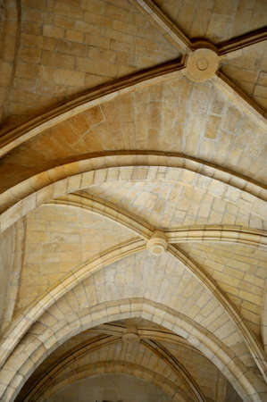 medieval arch of a cathedral europe photo
