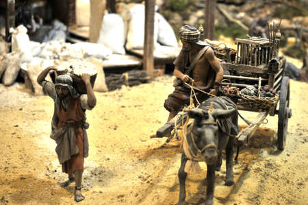 diorama or traditional representation of biblic scenes in figures, Valencia 10 December 2.012