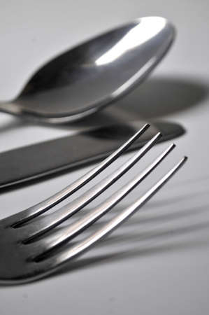 restaurant spoon fork and knife  photo