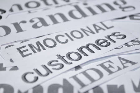 emocional customers marketing customers on line business Stock Photo - 17684962