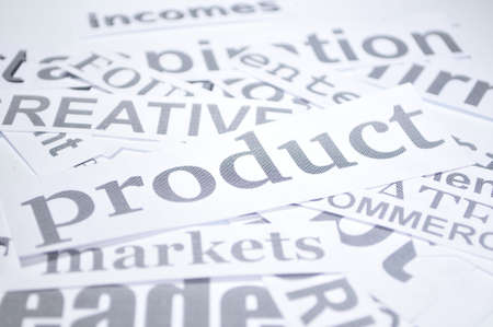 product business production for markets word in white background