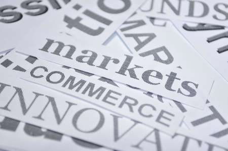 markets commerce online business concept words photo
