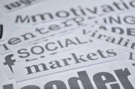 social economic markets online bussines concept photo