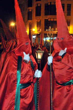 holy week celebration of death, passion and resurrection of Jesus Christ, in Elche, Alicante, Spain holy week, 31 March 2.013 Stock Photo - 18778305