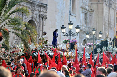 holy week celebration of death, passion and resurrection of Jesus Christ, in Elche, Alicante, Spain holy week, 31 March 2.013 Editorial