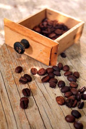 elaboration: arabiga coffee gourmet in wood box capuccino elaboration