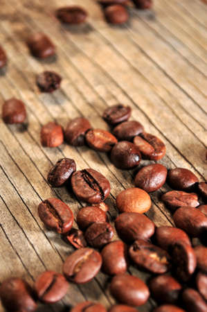 coffee beans detailed photo close up view Stock Photo