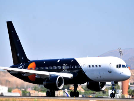 titan airways in airport of alicante, spain